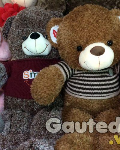 Gấu Teddy Kiss Áo Sọc – gauteddy.vn