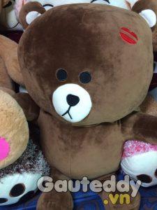 Gấu Brown Đính Môi - gauteddy.vn