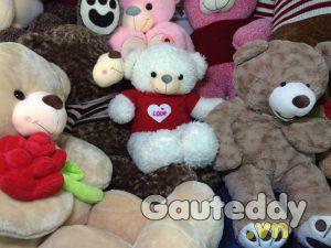 Gấu Teddy White Love - gauteddy.vn