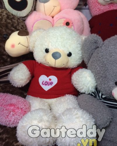 Gấu Teddy White Love – gauteddy.vn