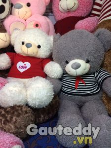 Gấu Teddy White Love - gauteddy.vn