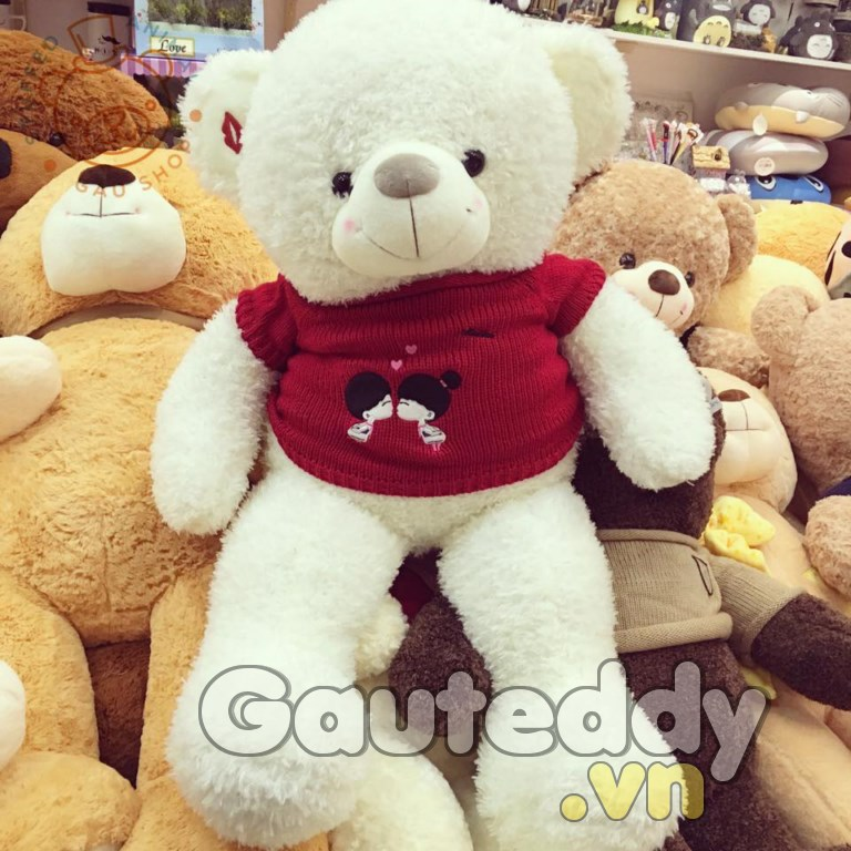 Gấu Teddy Kissing Trắng - gauteddy.vn