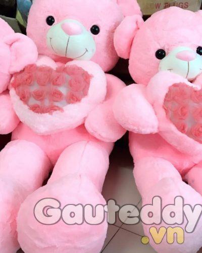 Gấu Teddy Pink Ôm Tim – gauteddy.vn