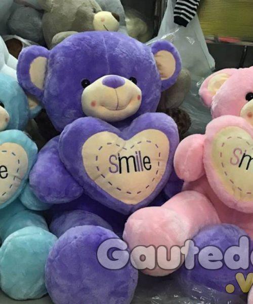 Gấu Teddy Ôm Tim Smile- gauteddy.vn
