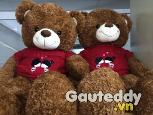 Gấu Bông Teddy Kissing Nâu - Gauteddy.vn