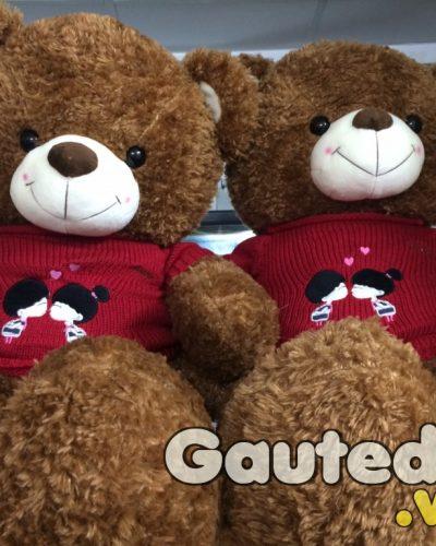 Gấu Bông Teddy Kissing Nâu – Gauteddy.vn