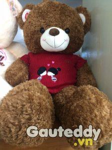 Gấu Bông Teddy Kissing Nâu