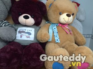 Gấu Teddy Áo Len I LOVE YOU