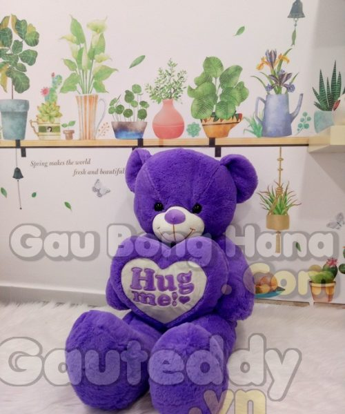Gấu Teddy Purple Hug Me