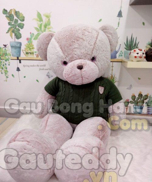 Gấu Teddy Snowflake Trắng Hồng