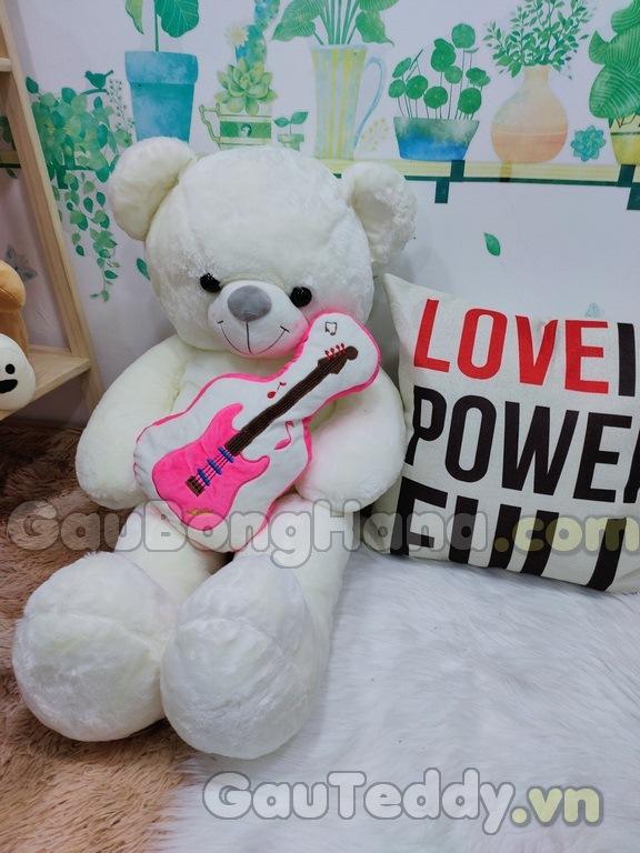 Gấu Bông Teddy Ôm Đàn