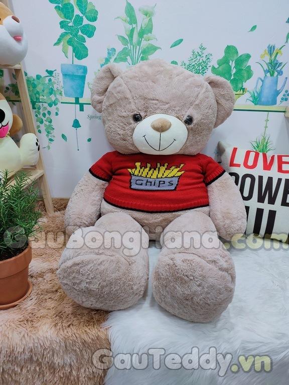 Gấu Bông Teddy Chips Nâu