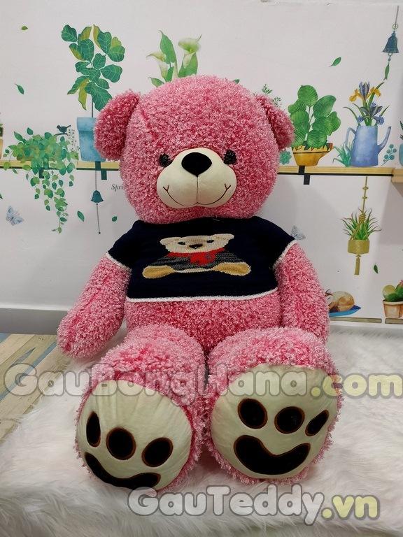 Gấu Bông Hồng Lông Xoắn