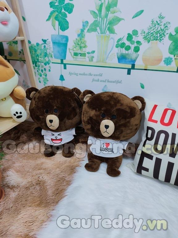 Gấu Brown Áo Trắng
