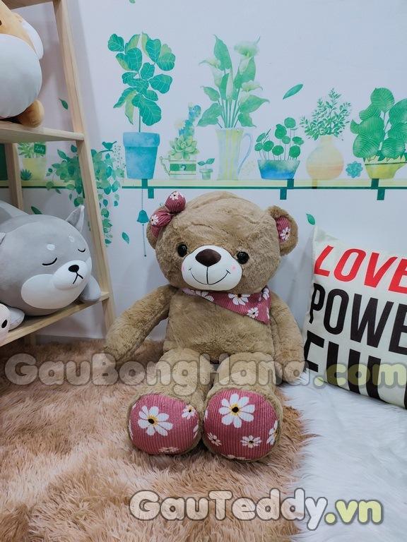 Gấu Bông SaSa Nâu Đỏ