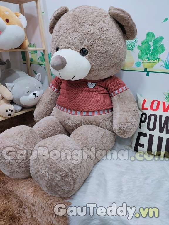 Gấu Bông Nâu Áo Đỏ