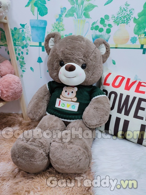 Gấu Bông LOVE Áo Xanh