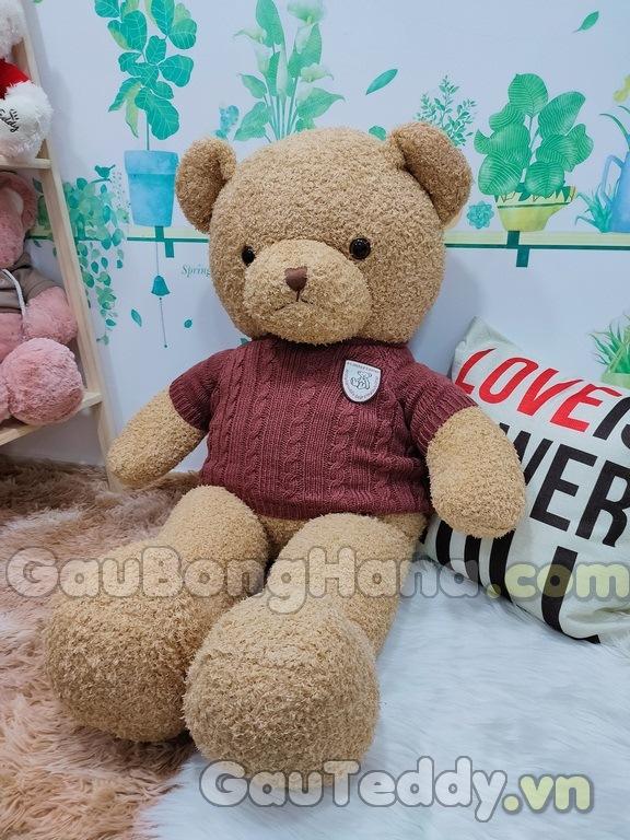 Gấu Bông Pub Vàng Áo Đỏ