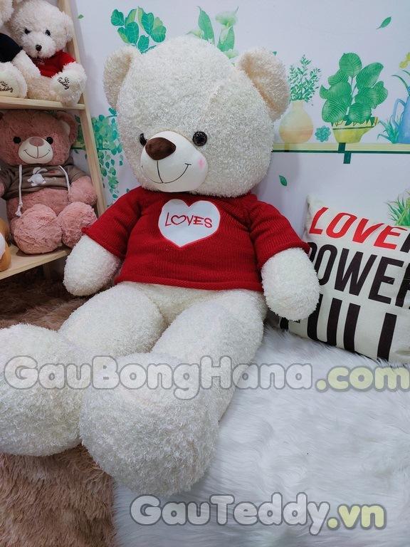 Gấu Bông Trắng Áo Đỏ
