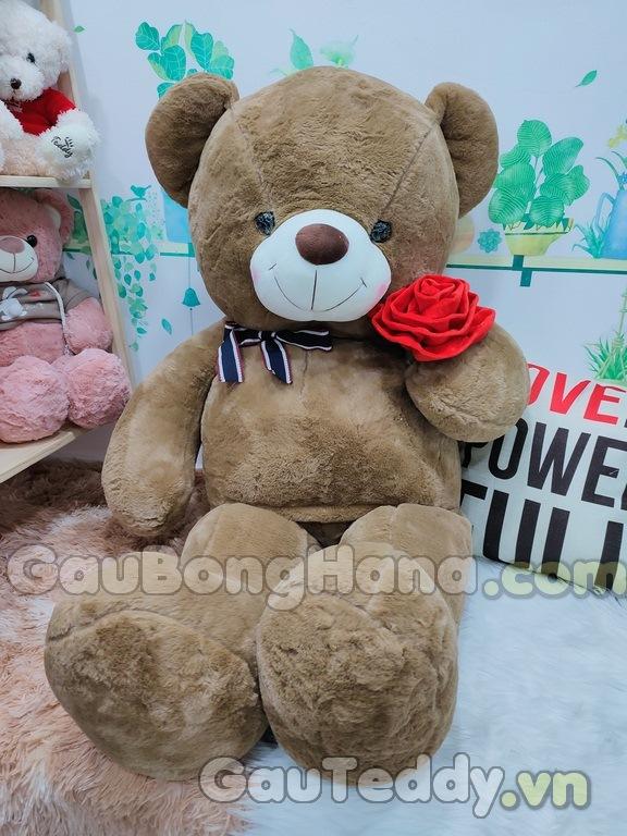 Gấu Nâu Ôm Hoa