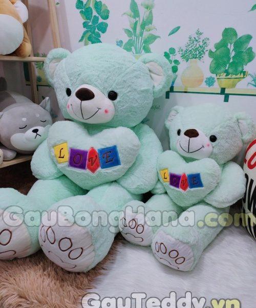 Gấu Bông Love Xanh Dương