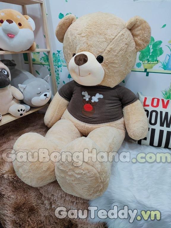 Gấu Bông Vàng Áo Nâu