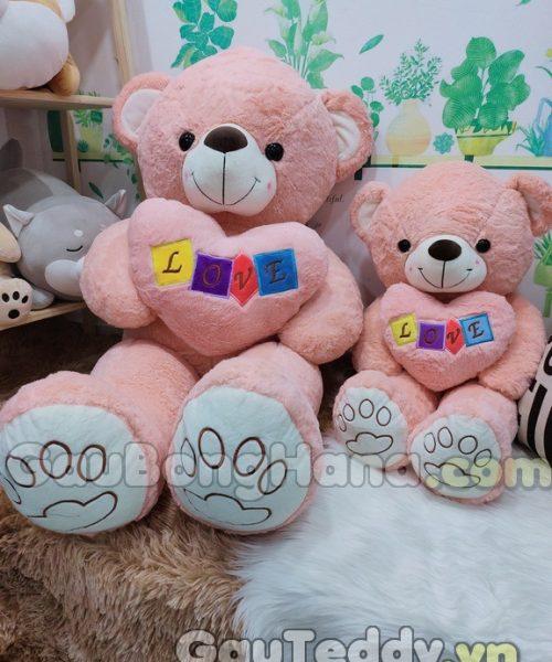 Gấu Bông Love Hồng