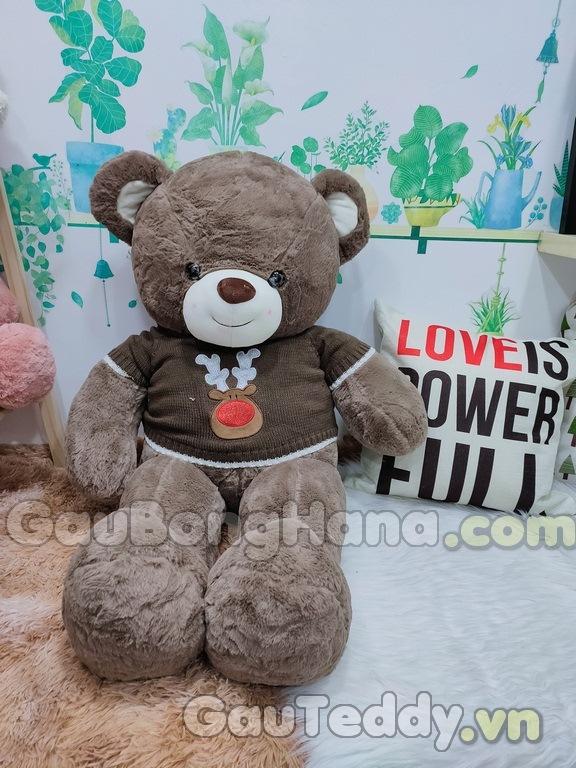 Gấu Bông Áo Nâu