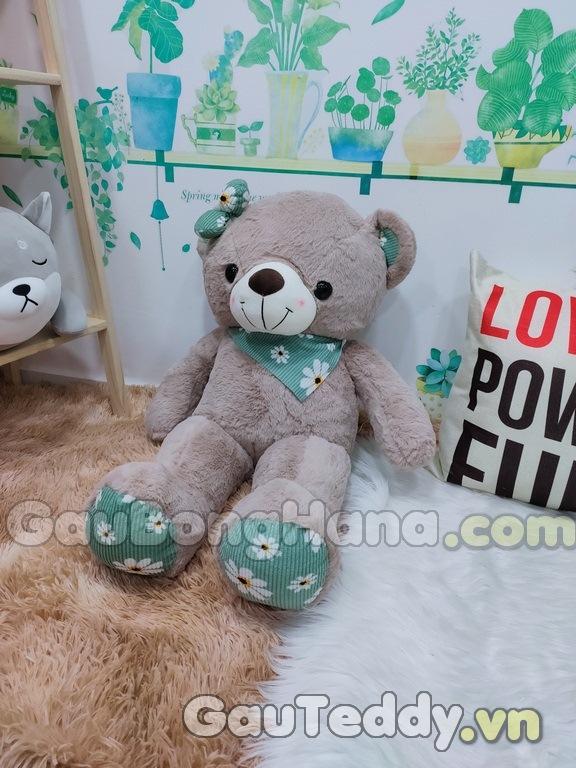 Gấu Bông SaSa Nâu Xanh