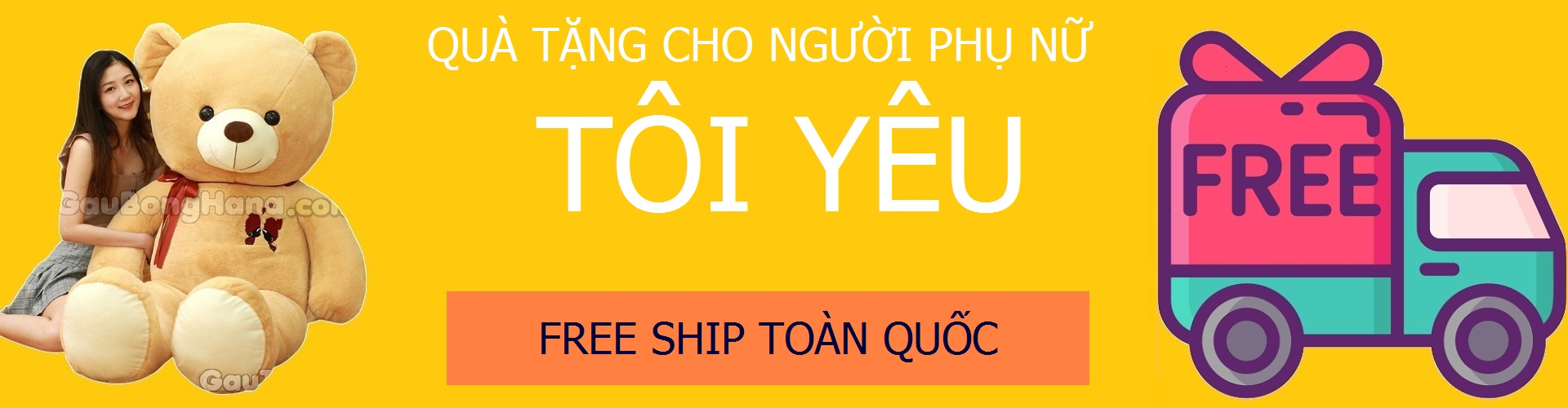 Banner Shop Gấu Teddy