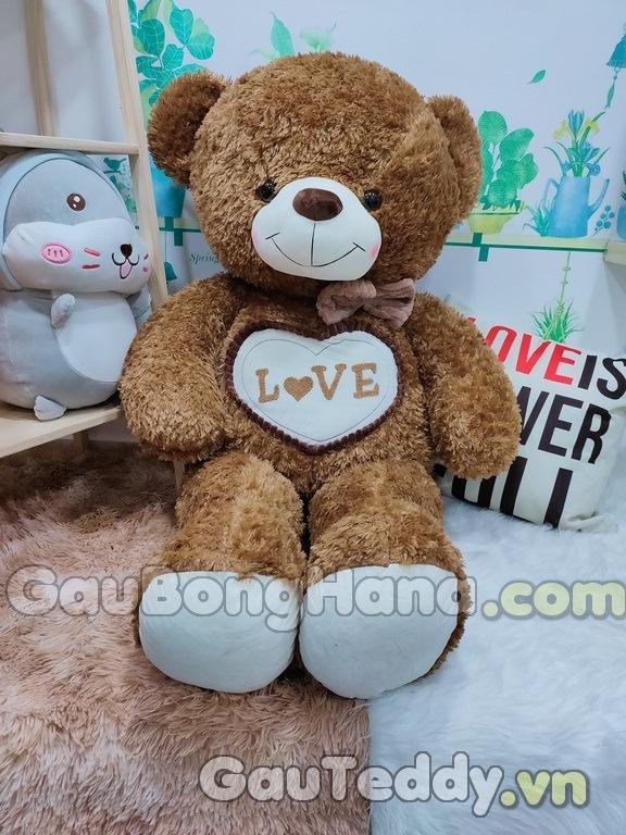 Gấu Bông Love Nâu