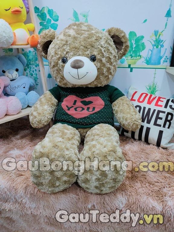 Gấu Bông Tai Nâu I Love You
