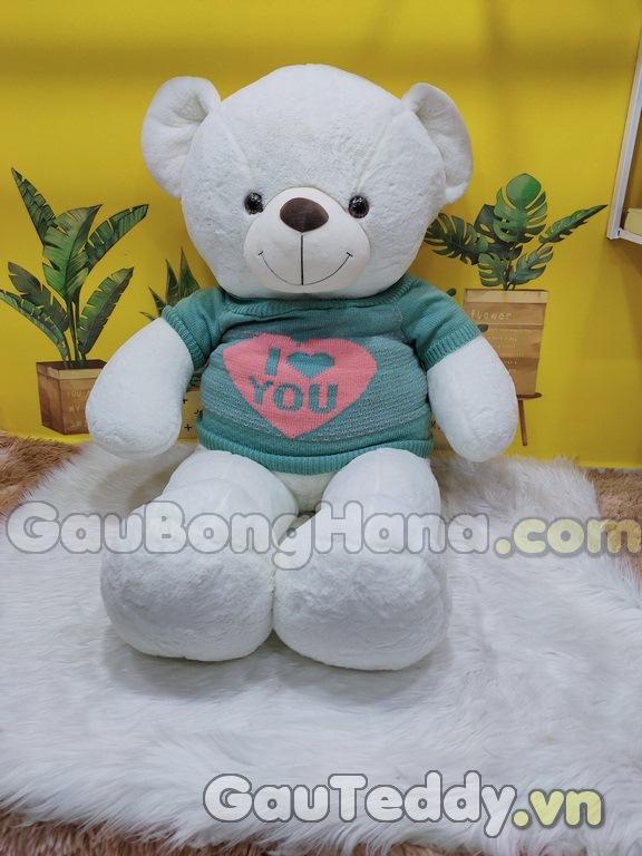 Gấu Trắng Áo Xanh Love You