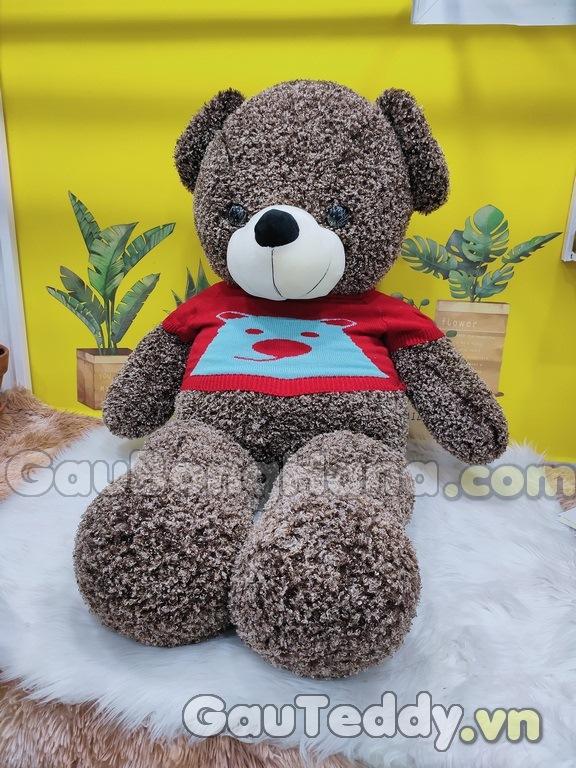 Gấu Bông Nâu Áo Gấu Đỏ