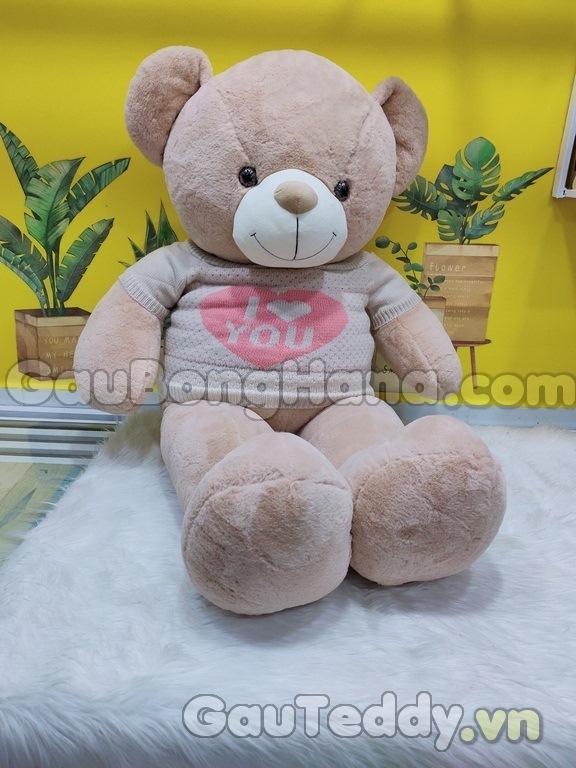 Gấu Bông Nâu I Love U