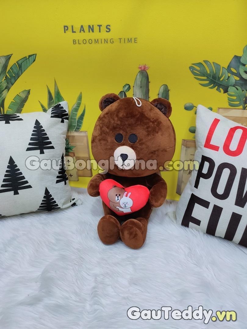 Gấu Brown Ôm Tim