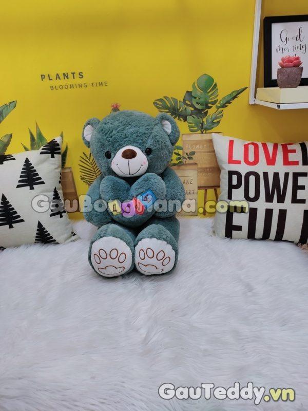 Gấu Bông Love Xanh Ngọc
