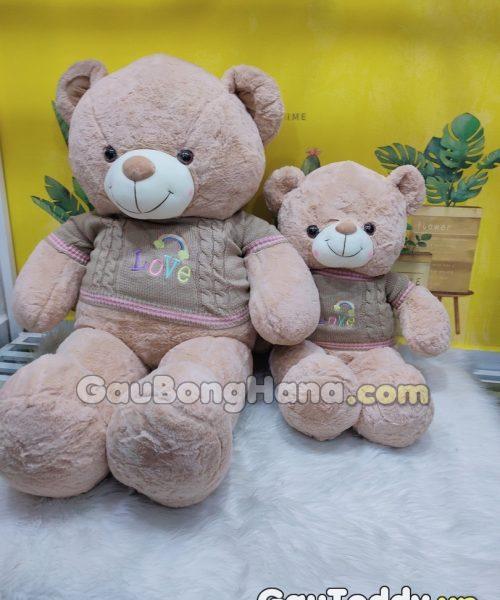 Gấu Bông Nâu Áo Love
